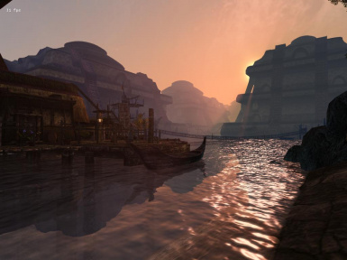 Sunset on Vivec