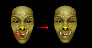 Fixed Westlys Female Orc Heads