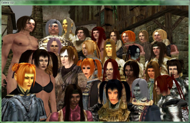 Galleo_KS_Ren's_Hair_for_McK_head_1.0 Hairstyles from Ren for models of heads from MacKom for all races except Khajiit Argonians and orcs
