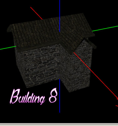8 New low poly building models
