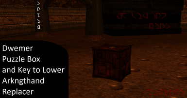 Dwemer Puzzle Box and Key to Lower Arkngthand Replacer