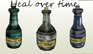 Potions heal over time and price changes