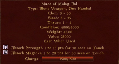 Mace of Molag Bal - Cast When Used Enchantment