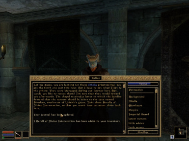 A screenshot from the quest - The Daughters of Dibella