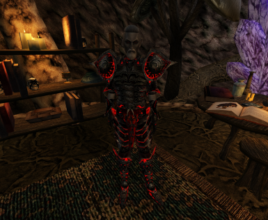 Better Morrowind Armor Glowing Daedric Armor Patch