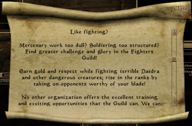 Fighters Guild advertisement