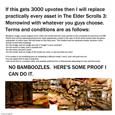 Me_irl's Great Bamboozle for OpenMW at Morrowind Nexus