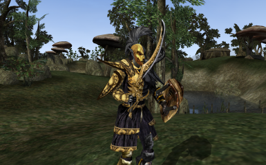 Vivec inspired Indoril armor and weapon set