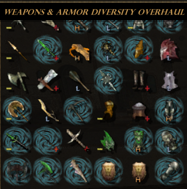 Weapons and Armor Diversity Overhaul