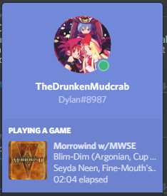 Discord Rich Presence for Morrowind