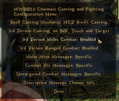 MWSE 2.0 Cinematic Casting And Combat