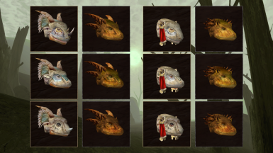 Head variants (differences are more visible in-game)