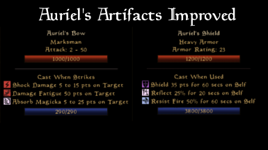 Auriel's Artifacts Improved