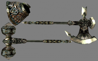 Axe head texture and shaft along with vanilla (MET) textures for the rest.