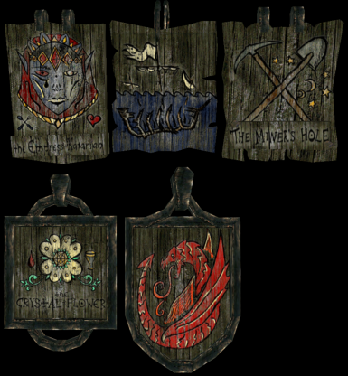 Colored Tavern Signs #1
