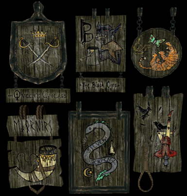 Colored Tavern Signs #2