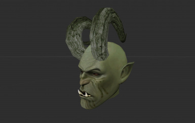 Skyrim-inspired large horned orc