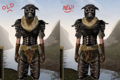 Boiled Netch Cuirass Adjustments