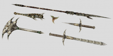 Improved Weapon Meshes - Organic
