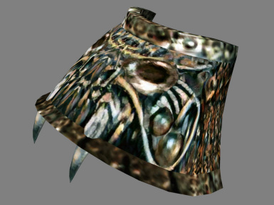 Orcish Pauldron with Fangs (Improved Pauldron Meshes (Vanilla + Better Morrowind Armor))