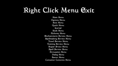 Right Click Menu Exit