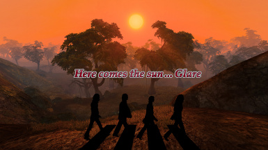 Here comes the sun...glare