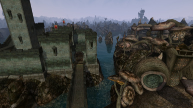 The Wolverine Hall sits on its own little island, phisically seaprated from Sadrith Mora
