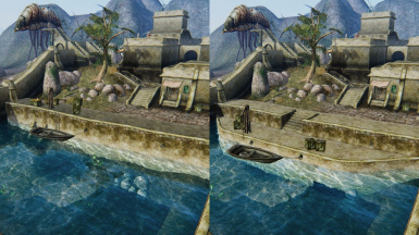 Waterfront Design: Stone dock vs Simple Cluttering