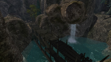 A section of the StoneWood pass, the new path connecting Balmora and Caldera