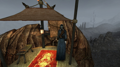 Ashmask and robe for the caravaner in Ald'ruhn