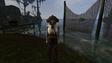 Mudcrab helmet and shirt for a fisherman in Seyda Neen