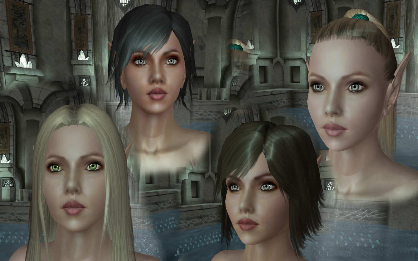 Elves Of Lineage Ii Face Texture Addon At Oblivion Nexus Mods And