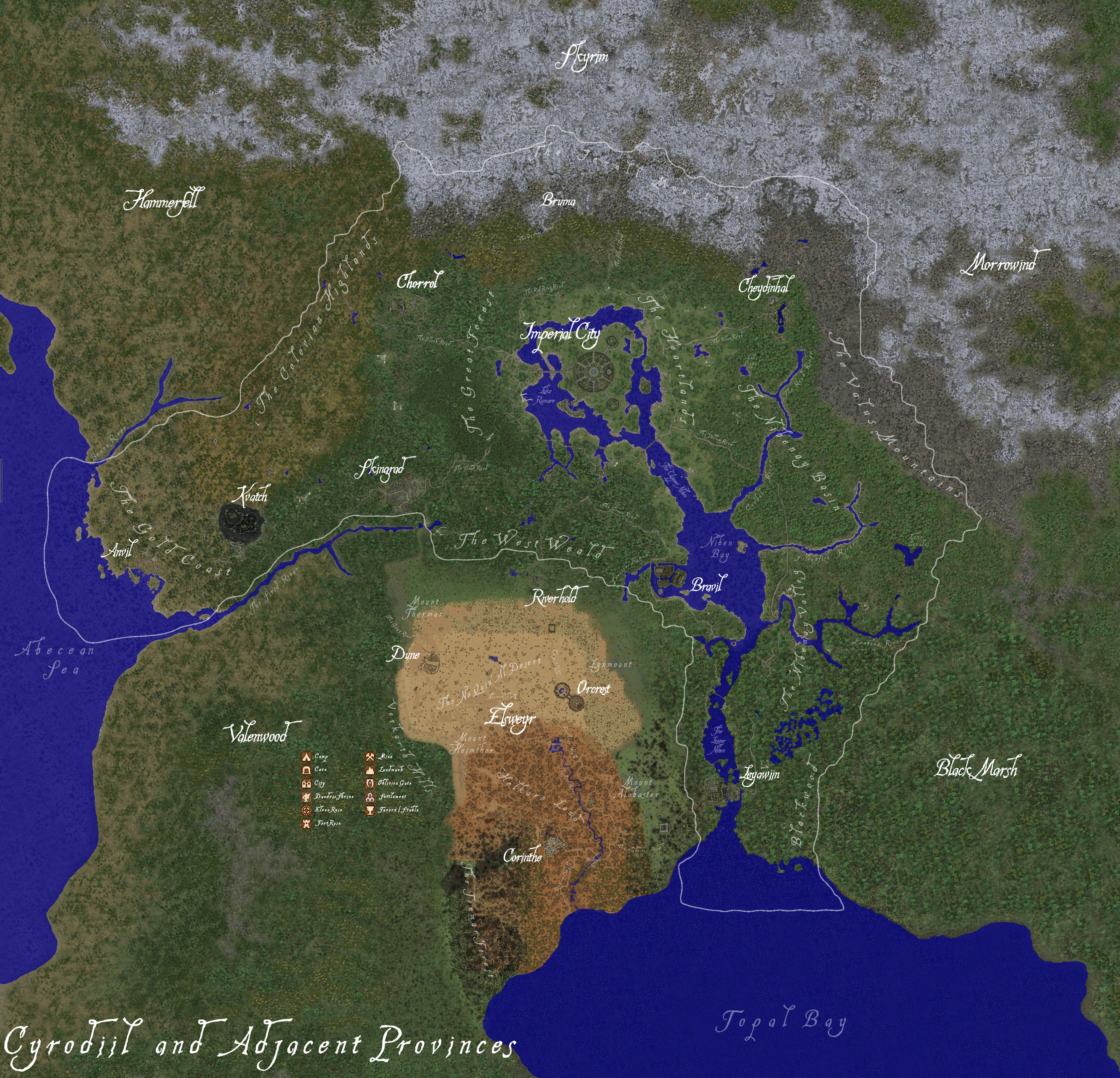 Tamriel Worldspace Complete World Map At Oblivion Nexus Mods And