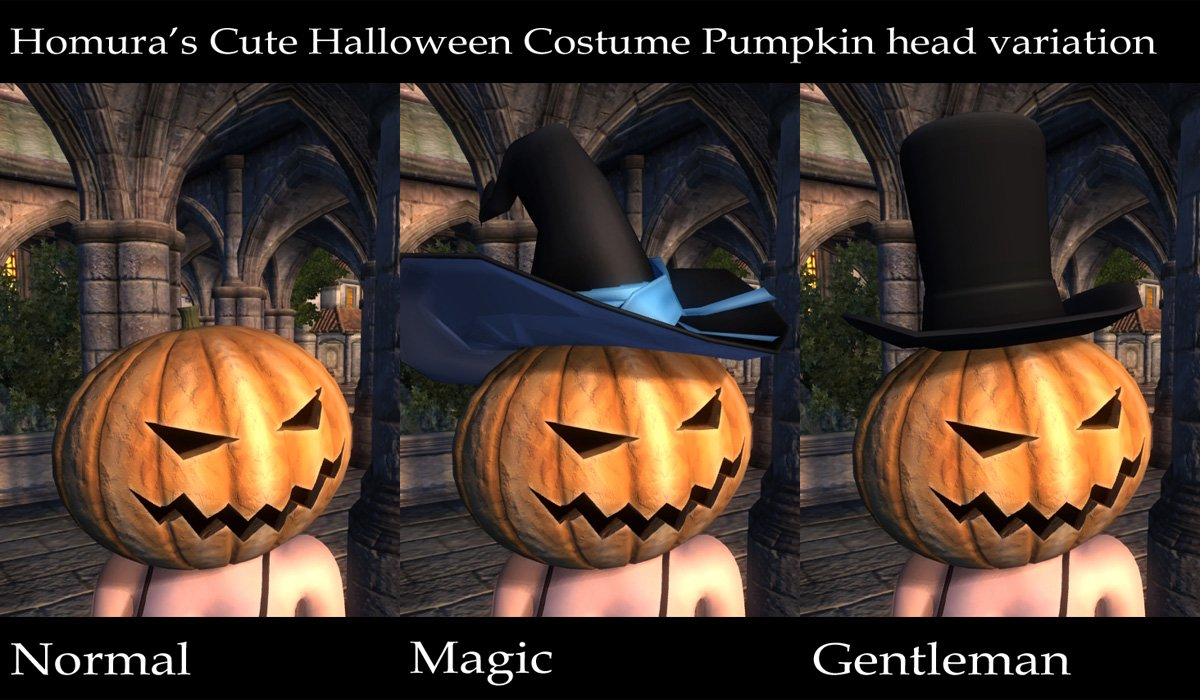 wearable halloween pumpkin head at skyrim nexus - mods and community