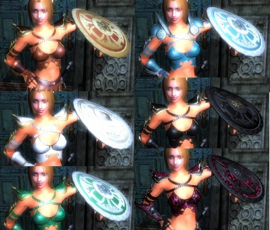 Barbarized Amazon Armor complete with skirts and shields