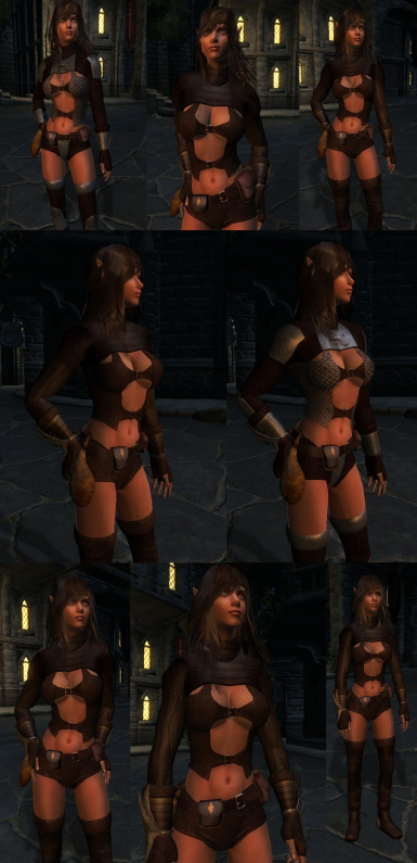 Female Eye Candy  Rogue Outfit 1 and 2