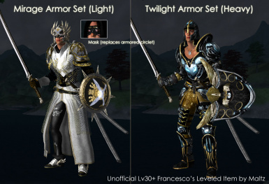 Unofficial Lv30 Francescos Leveled Armors by Maltz