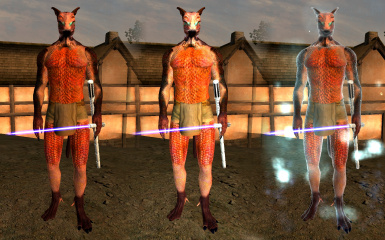 Compilation shot of new normalmaps for male Vanilla bodies