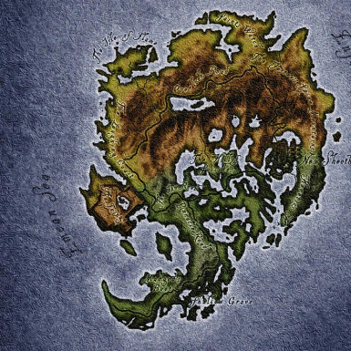 Elven Map For Shivering Isles