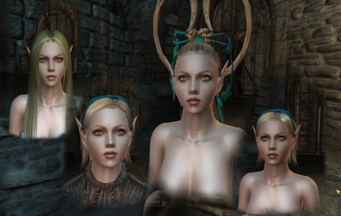 Elves of Lineage II face texture addon