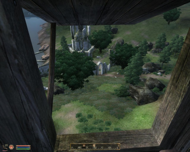 view out of a watchtower