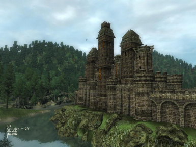 Castle Bravil Visible From Cyrodiil
