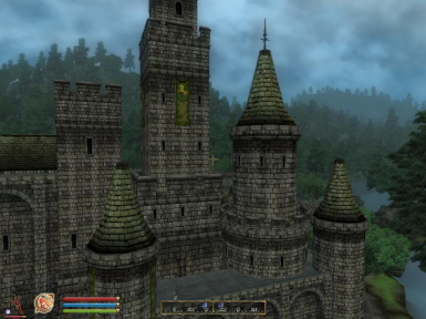 Castle Leyawiin Visible From Cyrodiil