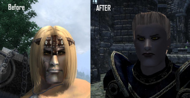 My char before XEOA and after