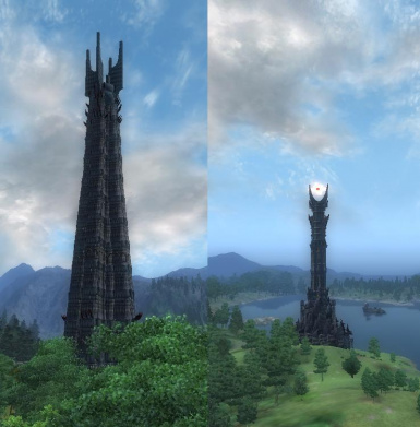 The 2 Towers__Barad-Dur and Isengard