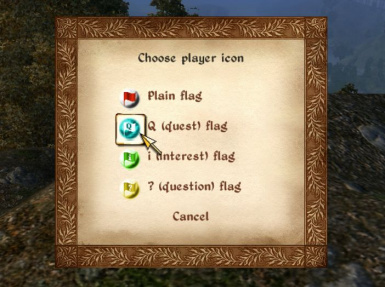Choose map marker icon