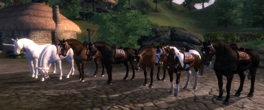 All player horses ingame