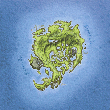 Map of the Shivering Isles