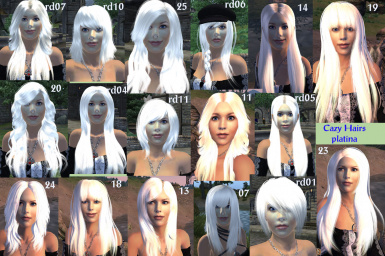 Cazy hairs for Vilja platina