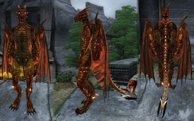 TFF Female Dragon red-gold